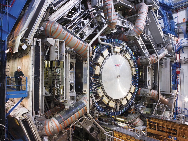 View of the ATLAS detector open