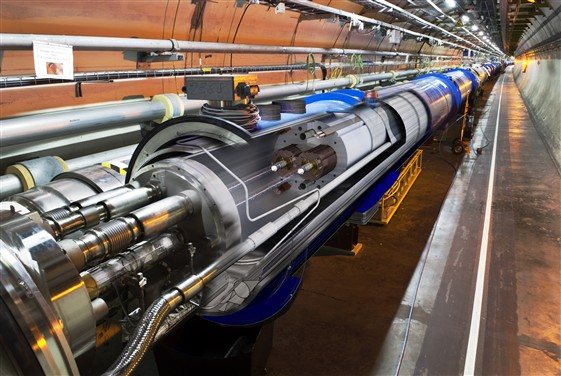 An image of the LHC Tunnel